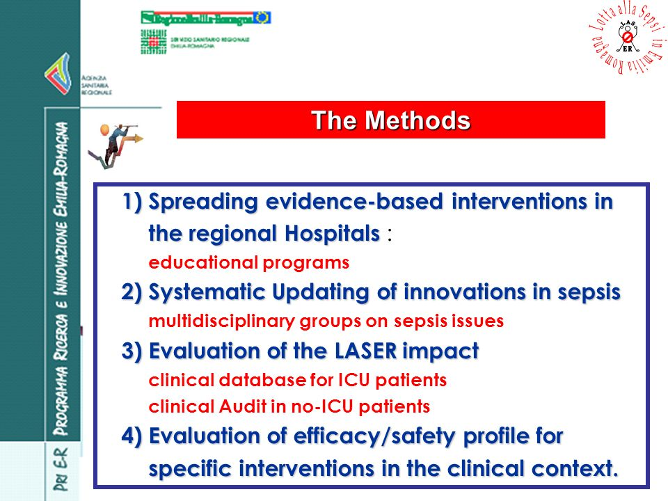 1) Spreading evidence-based interventions in the regional Hospitals 1) Spreading evidence-based interventions in the regional Hospitals : educational