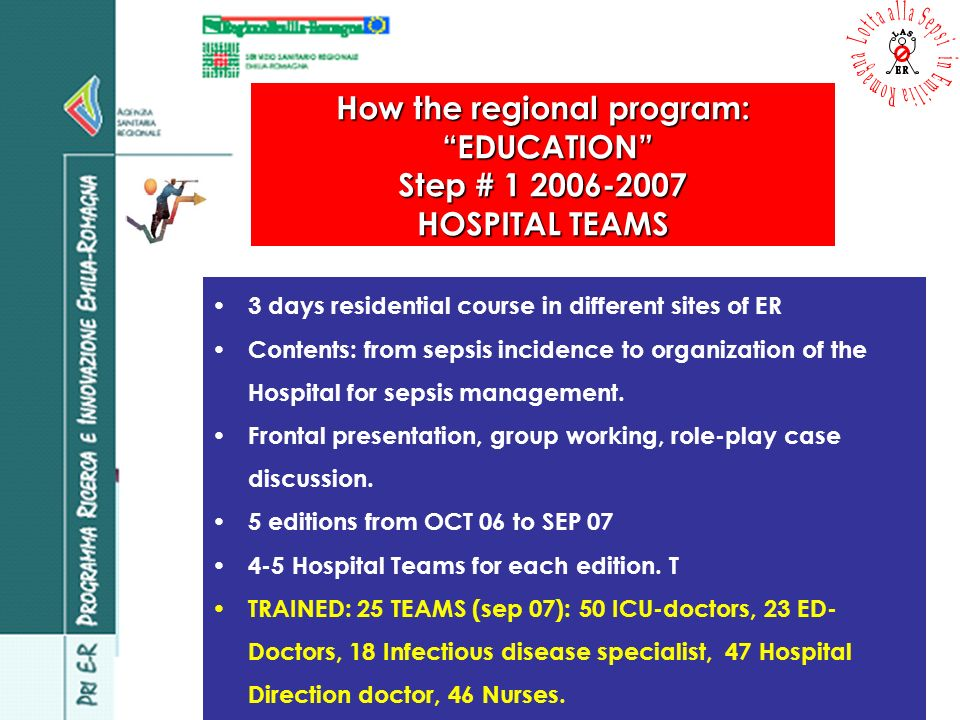 LASER impact in ICU: computer decision support system ICU, Modena University Hospital 36 patients with septic shock randomized in Manager and Normal group