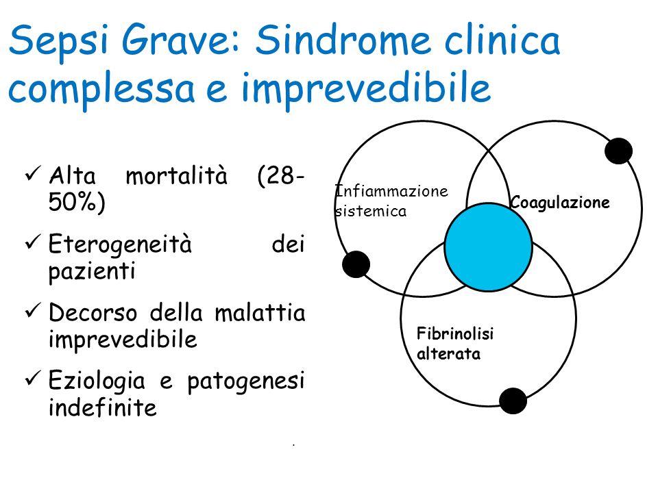 . Sepsi Grave: Sindrome clinica complessa e imprevedibile Alta mortalità (28- 50%) Eterogeneità dei pazienti Decorso della malattia imprevedibile Ezio
