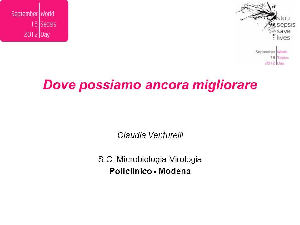 Dove possiamo ancora migliorare Claudia Venturelli S.C. Microbiologia-Virologia Policlinico - Modena