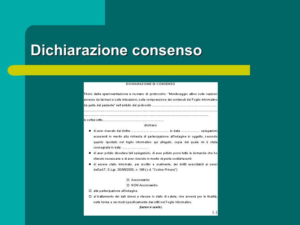 Dichiarazione consenso