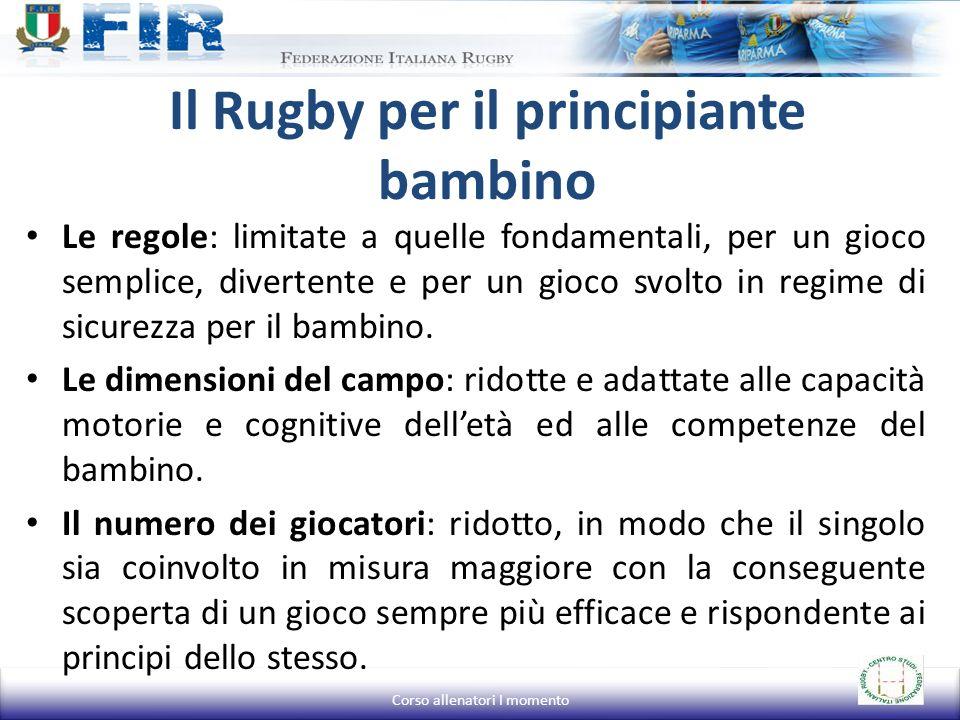 Il Rugby per il principiante bambino Le regole: limitate a quelle fondamentali, per un gioco semplice, divertente e per un gioco svolto in regime di s