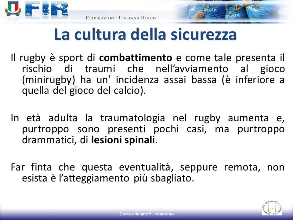 Il rugby è sport di combattimento e come tale presenta il rischio di traumi che nellavviamento al gioco (minirugby) ha un incidenza assai bassa (è inf