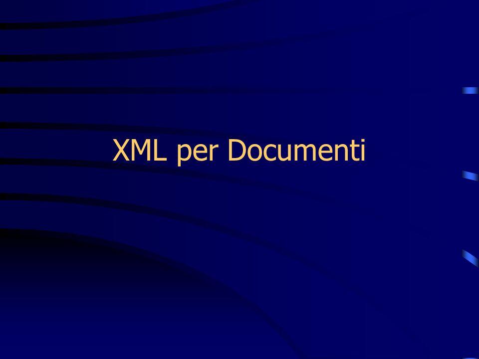 XML per Documenti