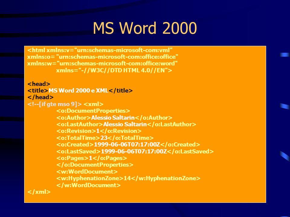 MS Word 2000 <html xmlns:v=