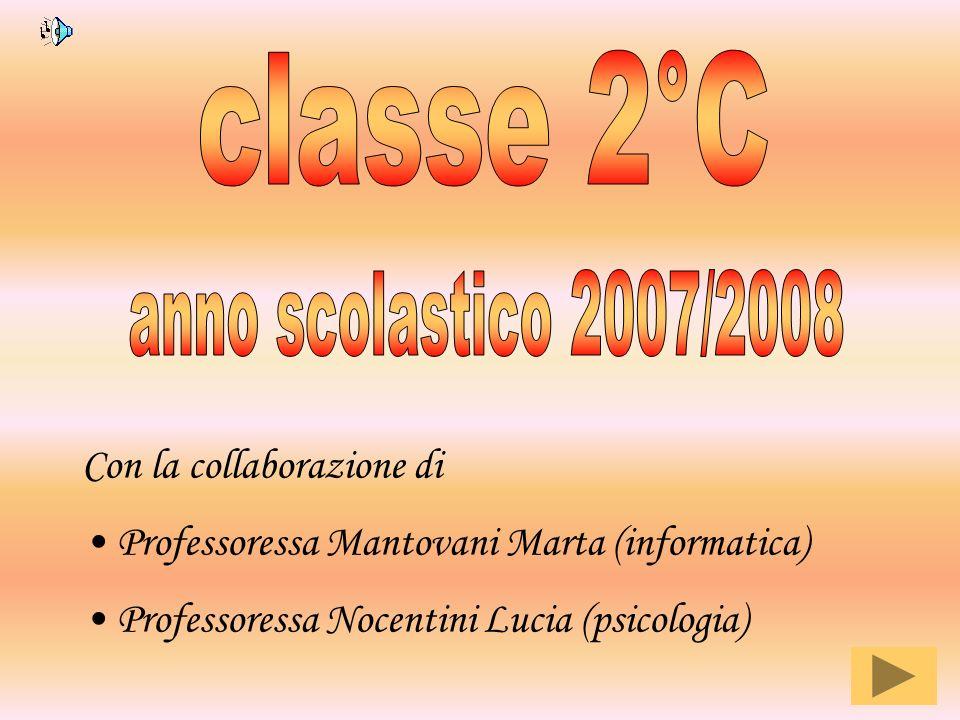 Con la collaborazione di Professoressa Mantovani Marta (informatica) Professoressa Nocentini Lucia (psicologia)