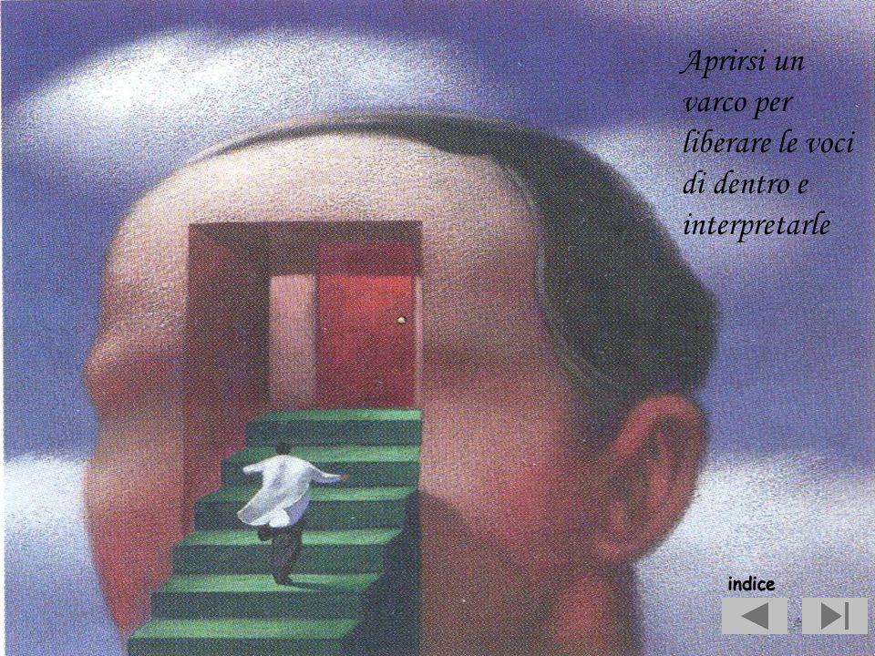 Aprirsi un varco per liberare le voci di dentro e interpretarle