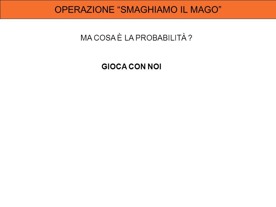 OPERAZIONE SMAGHIAMO IL MAGO GIOCA CON NOI
