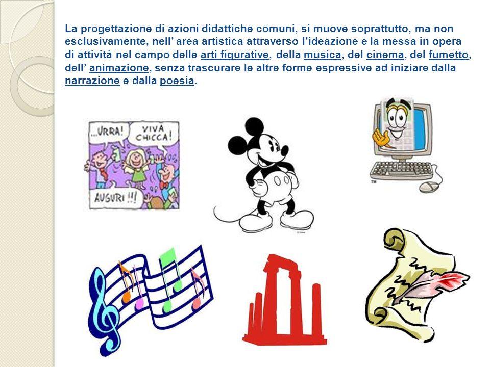 La progettazione di azioni didattiche comuni, si muove soprattutto, ma non esclusivamente, nell area artistica attraverso lideazione e la messa in ope