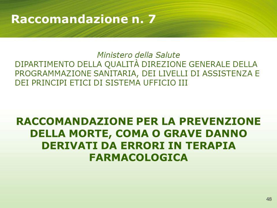 Le 17 raccomandazioni del ministero della salute