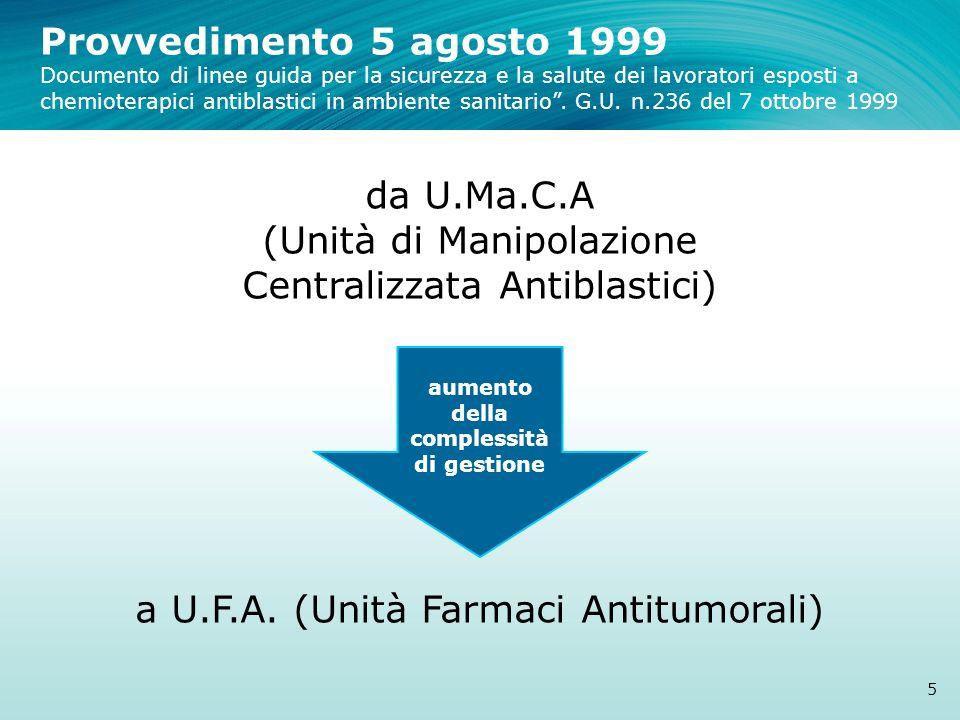 Provvedimento 5 agosto 1999 Documento di linee guida per la sicurezza e la salute dei lavoratori esposti a chemioterapici antiblastici in ambiente san