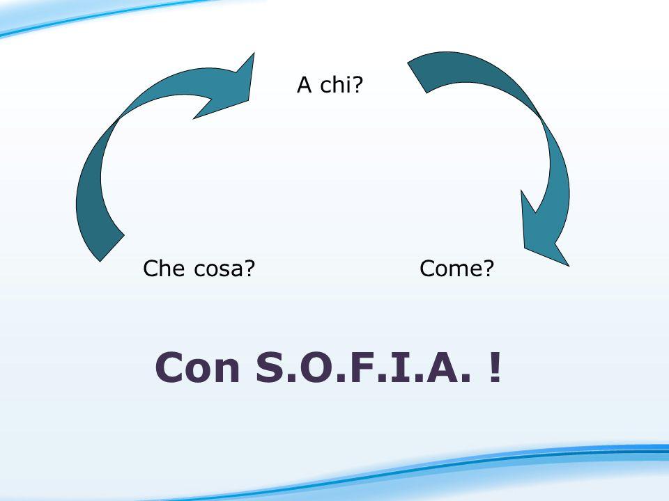 Con S.O.F.I.A. ! A chi? Che cosa?Come?