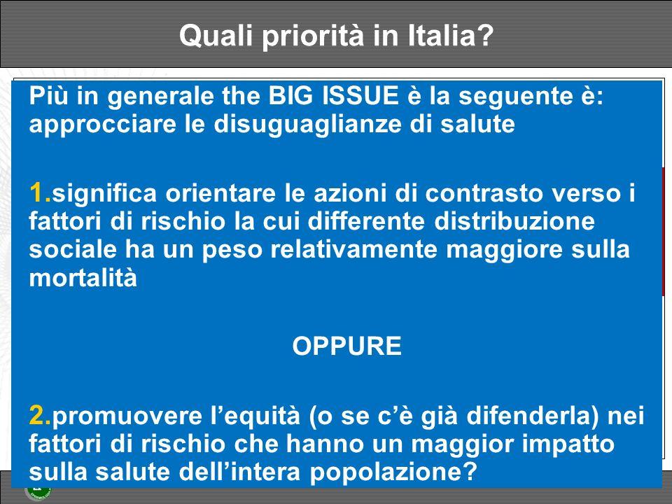 Quali priorità in Italia.