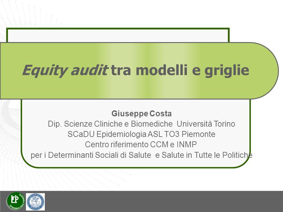 Equity audit tra modelli e griglie Giuseppe Costa Dip.