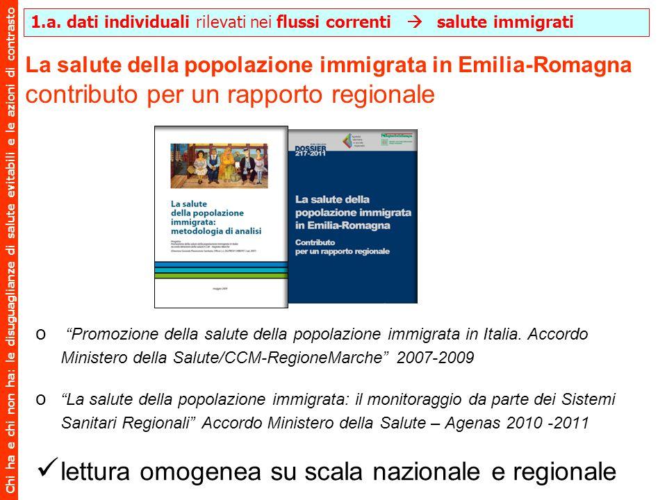 Chi ha e chi non ha: le disuguaglianze di salute evitabili e le azioni di contrasto La salute della popolazione immigrata in Emilia-Romagna contributo
