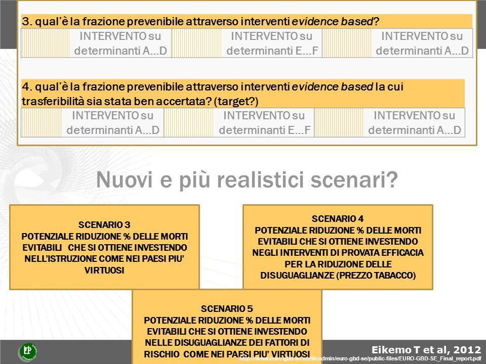 3. qualè la frazione prevenibile attraverso interventi evidence based.
