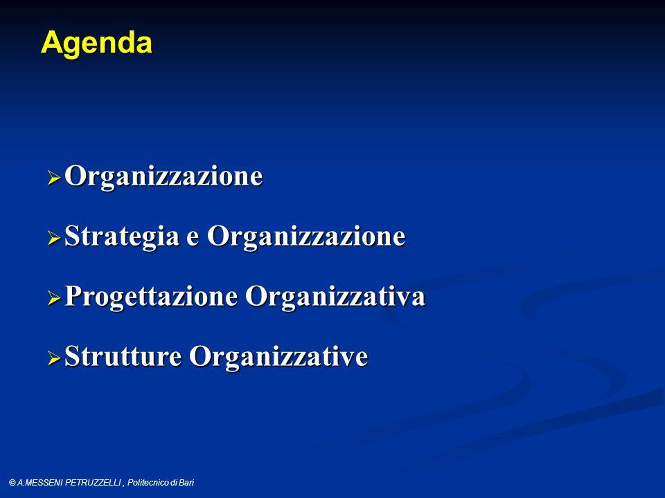 © A.MESSENI PETRUZZELLI, Politecnico di Bari Organizzazione (Blau and Scott) A purposive aggregation of individuals who exert concerted effort toward a common and explicitly recognized goal