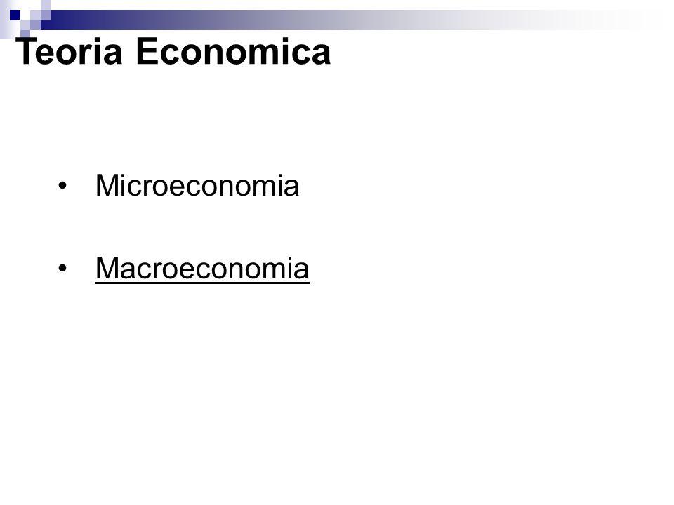 Teoria Economica Microeconomia Macroeconomia