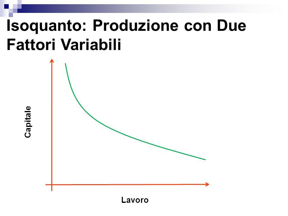 Isoquanto: Produzione con Due Fattori Variabili Lavoro Capitale