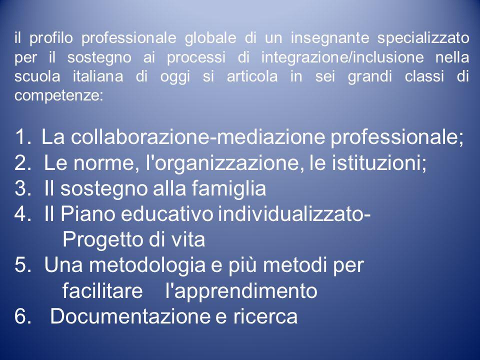 il profilo professionale globale di un insegnante specializzato per il sostegno ai processi di integrazione/inclusione nella scuola italiana di oggi s