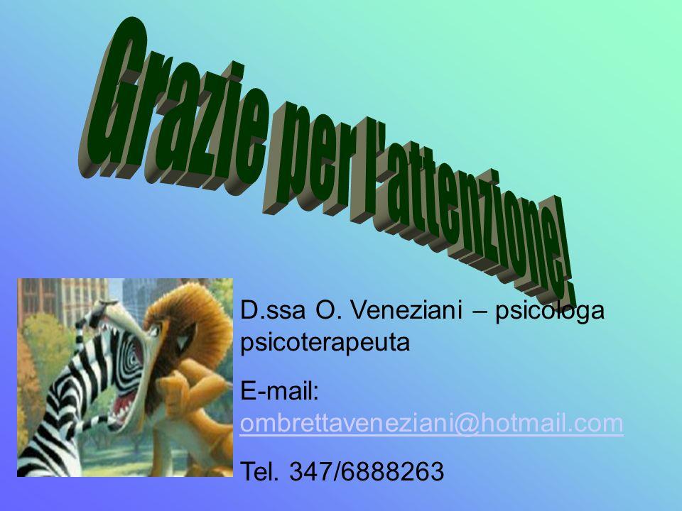 D.ssa O. Veneziani – psicologa psicoterapeuta E-mail: ombrettaveneziani@hotmail.com ombrettaveneziani@hotmail.com Tel. 347/6888263