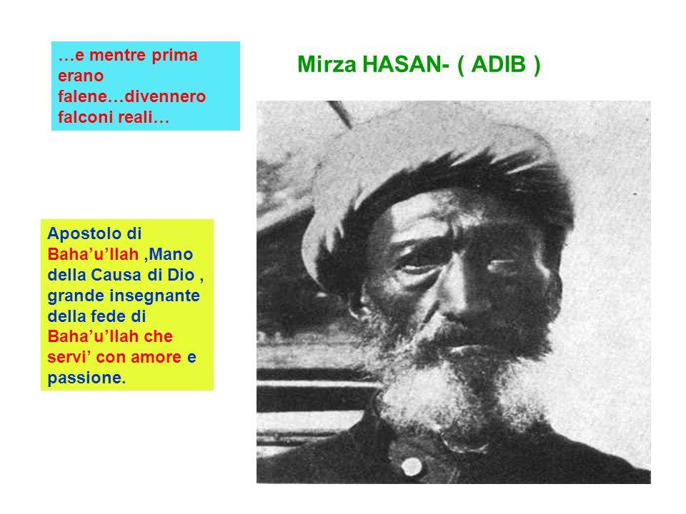 Mirza HASAN- ( ADIB ) …e mentre prima erano falene…divennero falconi reali… Apostolo di Bahaullah,Mano della Causa di Dio, grande insegnante della fed