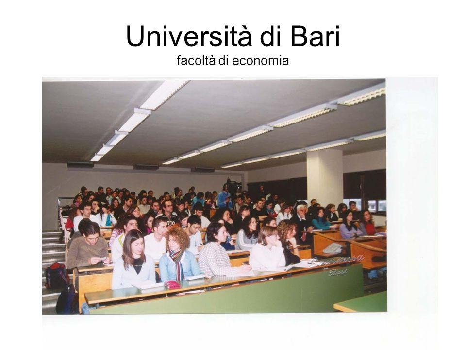 Università di Bari facoltà di economia