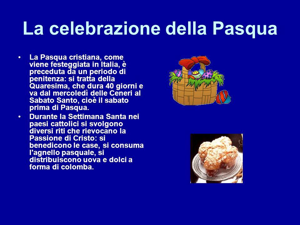 Pasqua La Pasqua cristiana Il nome Pasqua deriva dal latino pascha e dall ebraico pesah.