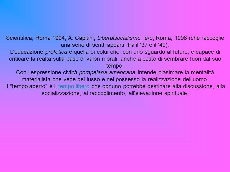 Scientifica, Roma 1994; A.