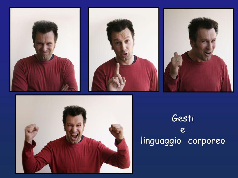 Gesti e linguaggio corporeo