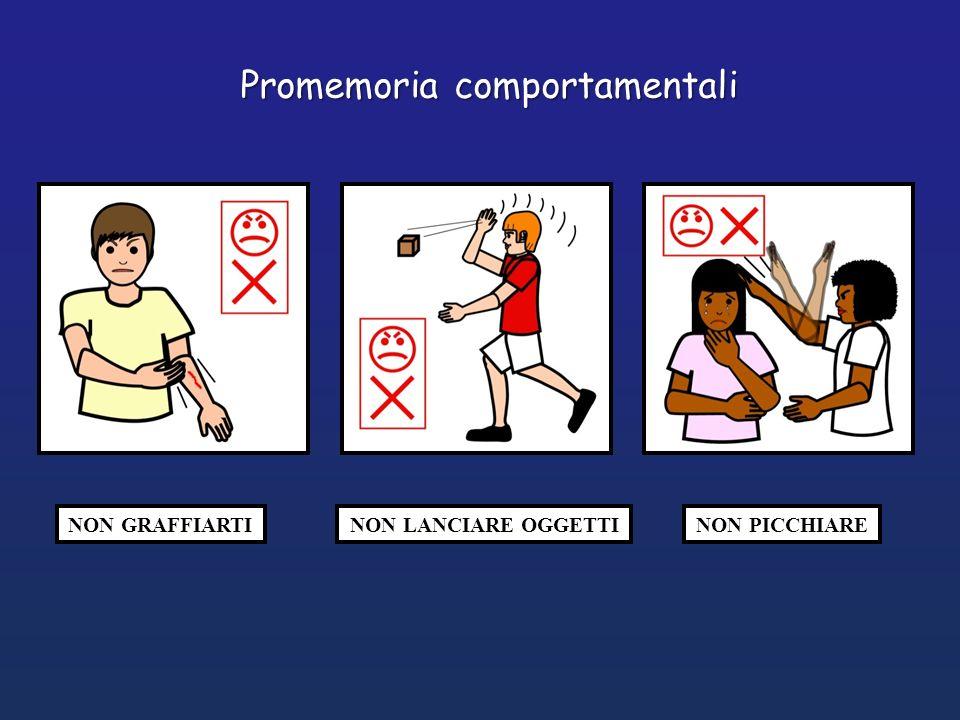 NON GRAFFIARTINON LANCIARE OGGETTINON PICCHIARE Promemoria comportamentali