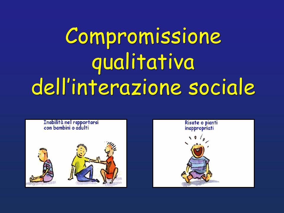 Compromissione qualitativa dellinterazione sociale