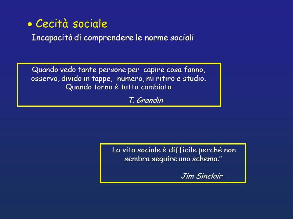 La vita sociale è difficile perché non sembra seguire uno schema. La vita sociale è difficile perché non sembra seguire uno schema. Jim Sinclair Jim S