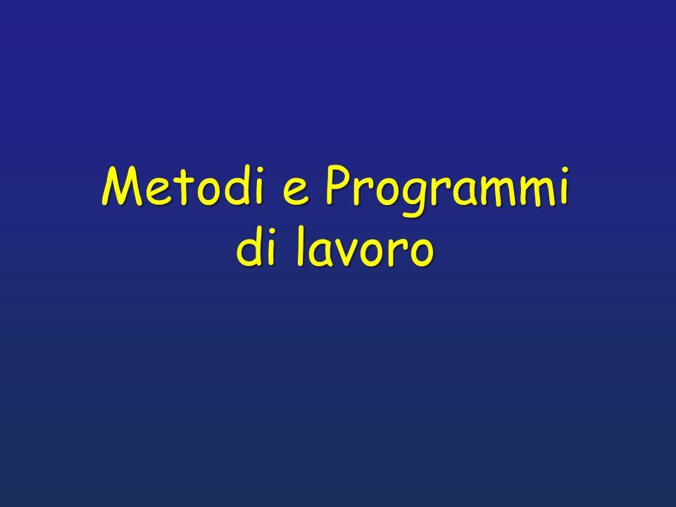 Metodi e Programmi di lavoro