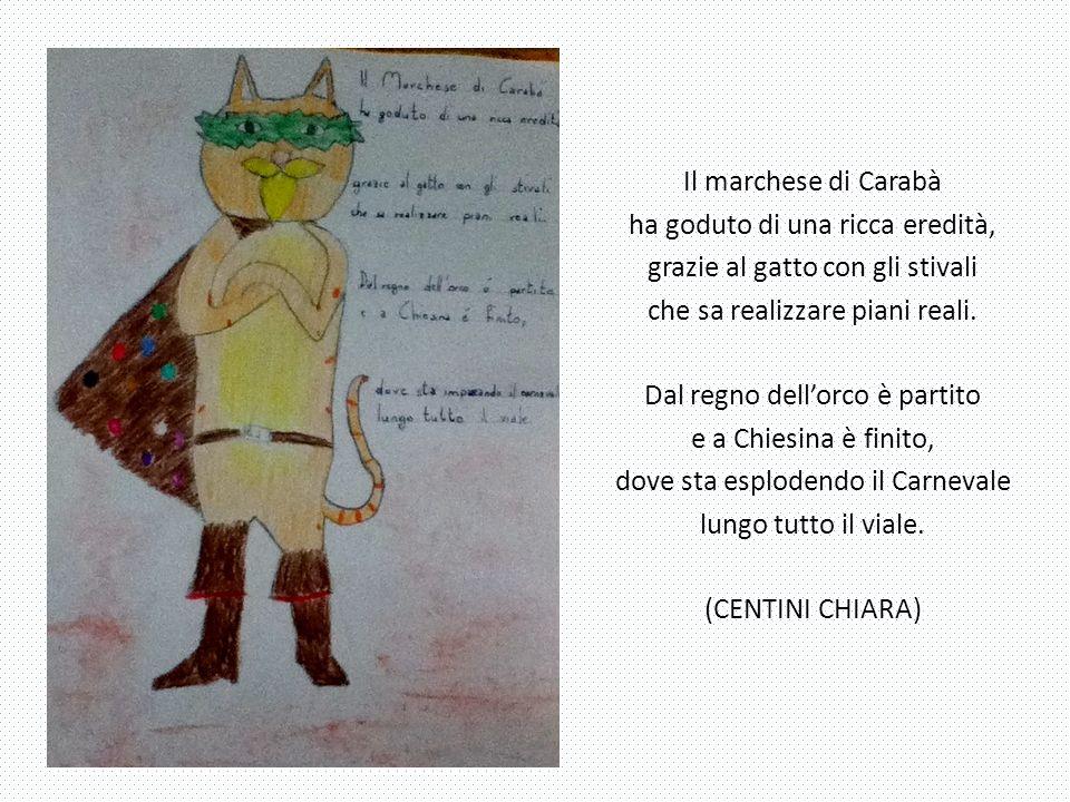 Dal castello di Carabà, dove ho goduto di una eredità, qui sono atterrato e mi sono diplomato: sono il re del Carnevale, ma per strada ho perduto uno stivale.
