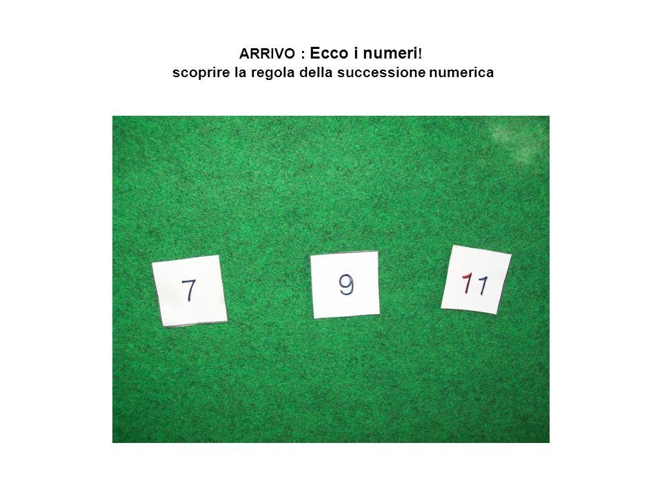 ARRIVO : Ecco i numeri ! scoprire la regola della successione numerica