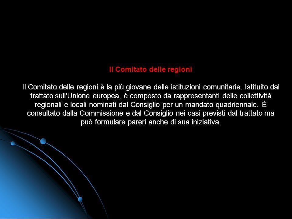 Il Comitato economico e sociale Il Comitato economico e sociale europeo (CESE) è unassemblea consultiva. I suoi membri sono rappresentanti delle varie