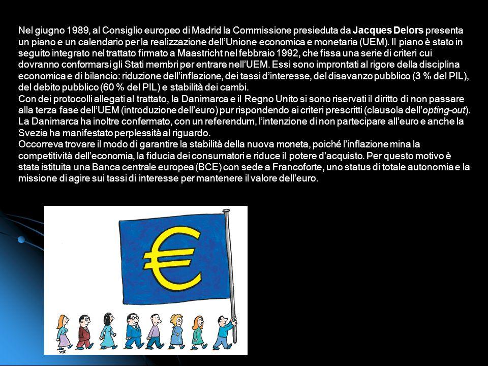 LUnione economica e monetaria e leuro Il 1° gennaio 2002 leuro diventa moneta corrente per oltre 300 milioni di europei. Fra il trattato di Maastricht