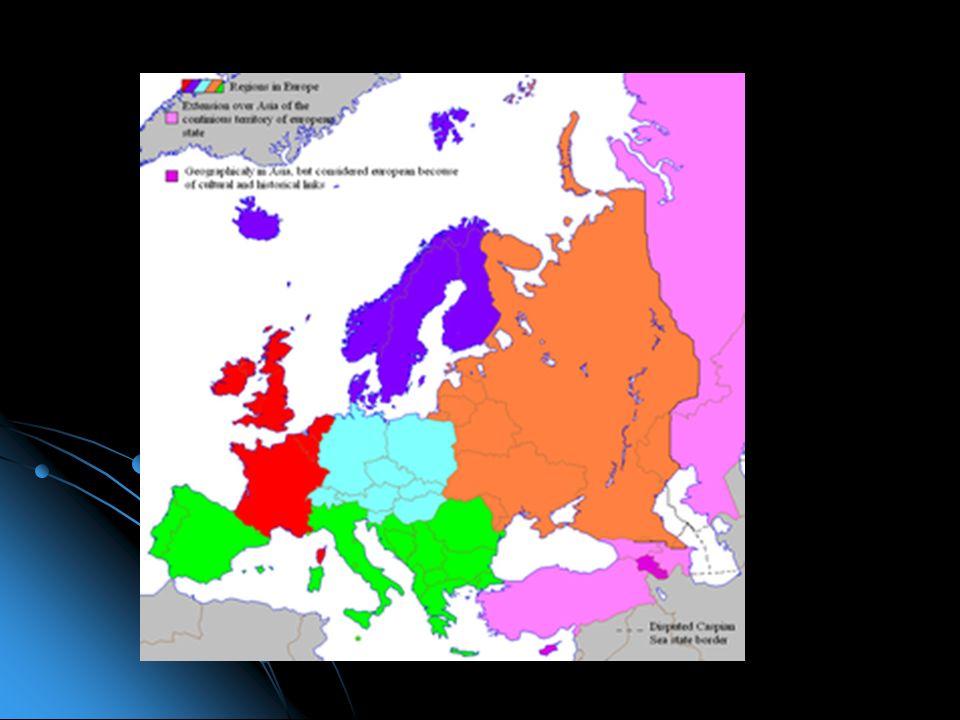 L'Europa Occidentale (in rosso sulla mappa), include Gran Bretagna, Irlanda, Francia e il Benelux (Belgio, Olanda e Lussemburgo). In certi casi, inclu