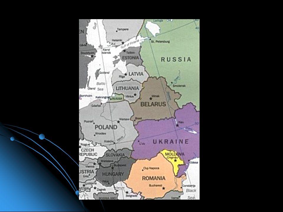 Europa Orientale (in arancione sulla mappa), non è un concetto bene definito, come per l'Europa Occidentale. Include la Comunità degli Stati Indipende