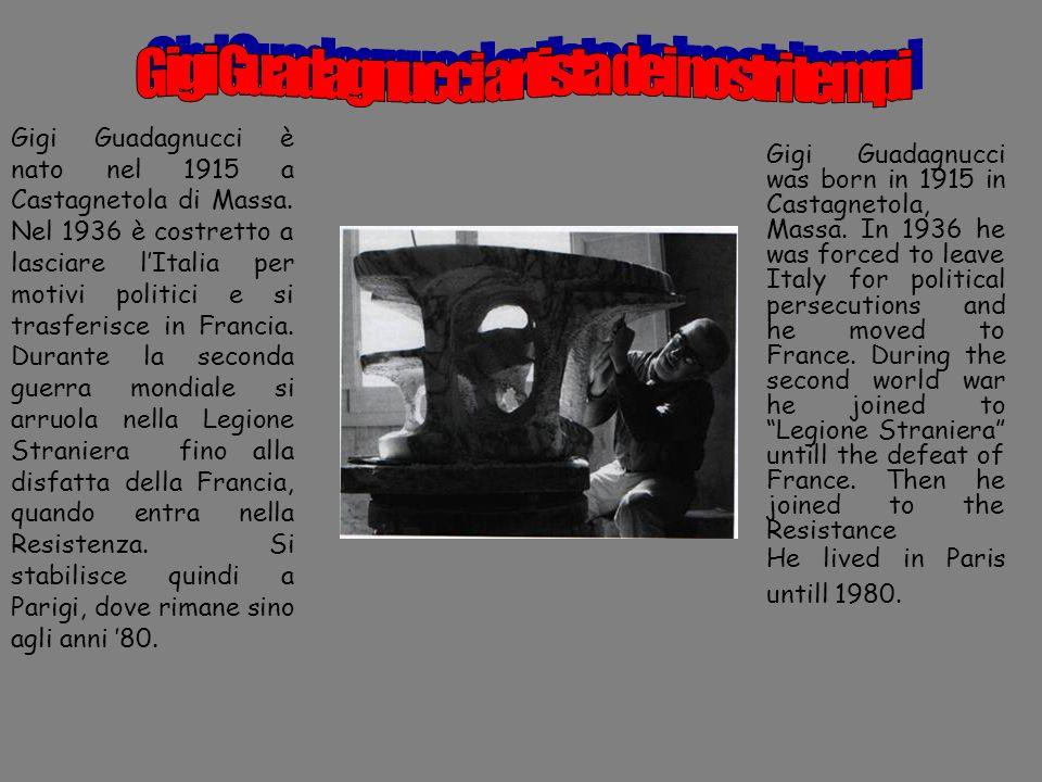 Gigi Guadagnucci è nato nel 1915 a Castagnetola di Massa. Nel 1936 è costretto a lasciare lItalia per motivi politici e si trasferisce in Francia. Dur