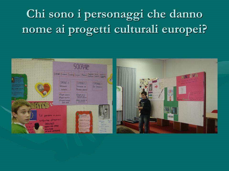 Chi sono i personaggi che danno nome ai progetti culturali europei