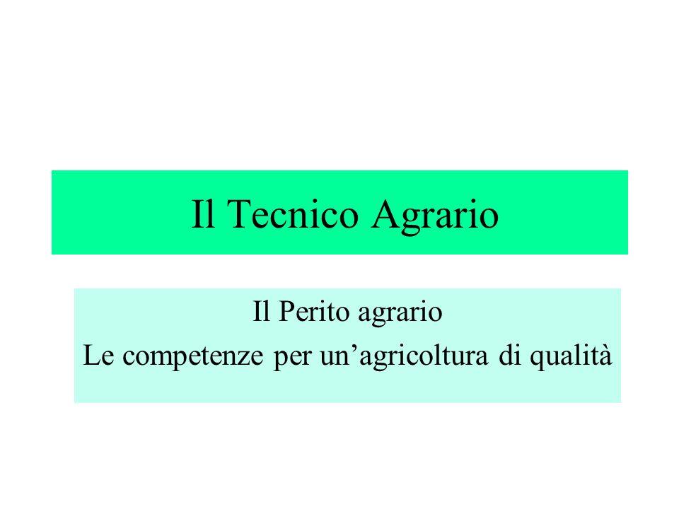 Il Tecnico Agrario Il Perito agrario Le competenze per unagricoltura di qualità