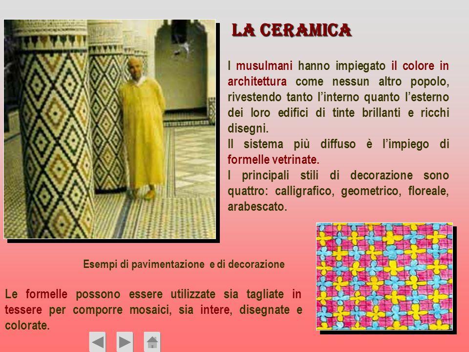 Le formelle possono essere utilizzate sia tagliate in tessere per comporre mosaici, sia intere, disegnate e colorate. I musulmani hanno impiegato il c