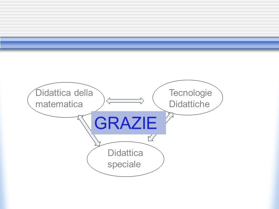Didattica della matematica Tecnologie Didattiche Didattica speciale GRAZIE
