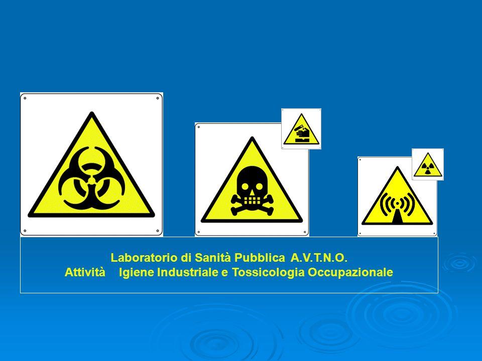 Laboratorio di Sanità Pubblica A.V.T.N.O. Attività Igiene Industriale e Tossicologia Occupazionale