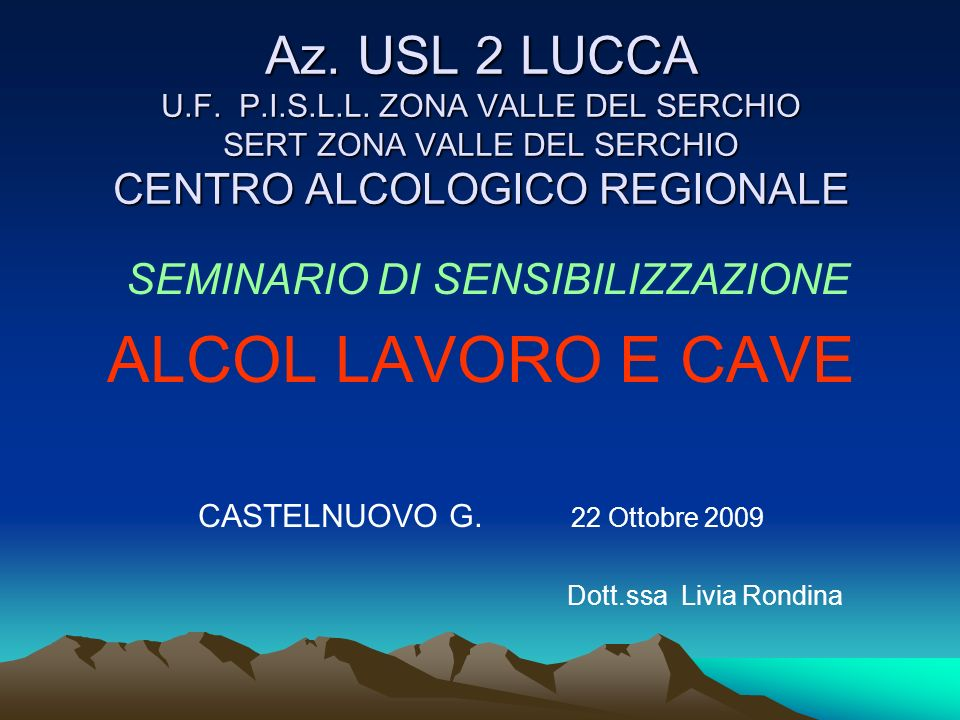 Az. USL 2 LUCCA U.F. P.I.S.L.L.