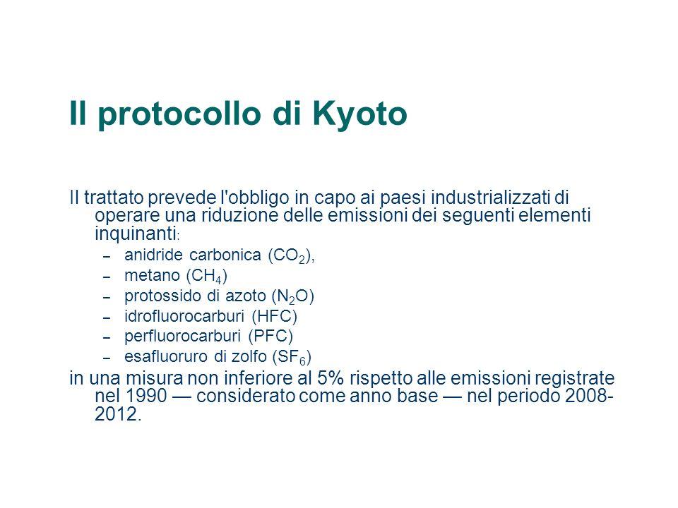 Il protocollo di Kyoto La ratifica dellaccordo, in realtà, non è stato così semplice.