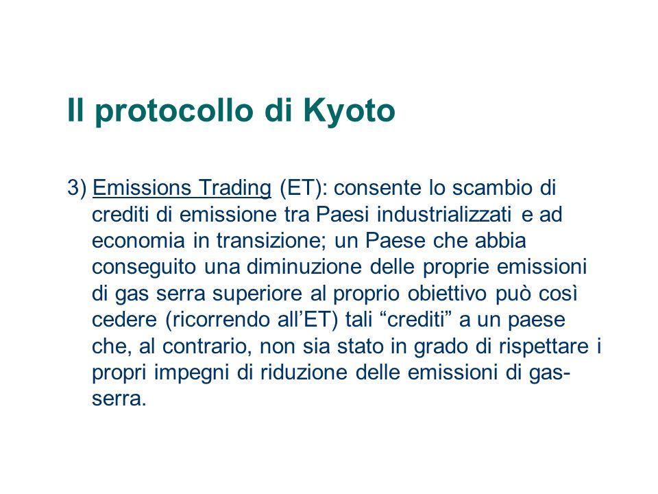 Il protocollo di Kyoto Gli Stati Uniti dAmerica non hanno ratificato il Protocollo anche se sono i responsabili del 36,2% del totale delle emissioni.