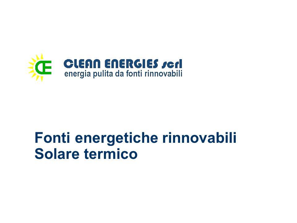 Fonti energetiche rinnovabili Solare termico